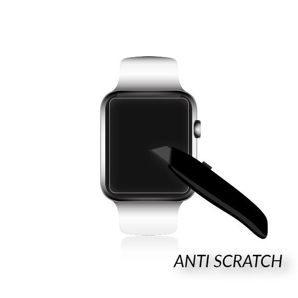 SMADO® Display Schutz Sicherheitsglas Apple Watch 0,33mm 9H